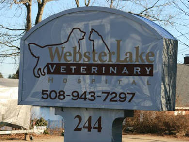 webster lake sign